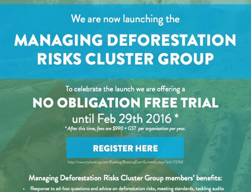 Launching MANAGING DEFORESTATION RISKS CLUSTER GROUP